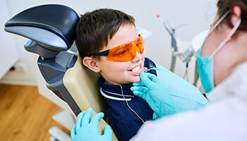 Danville Children's Dentist young child receiving dental care