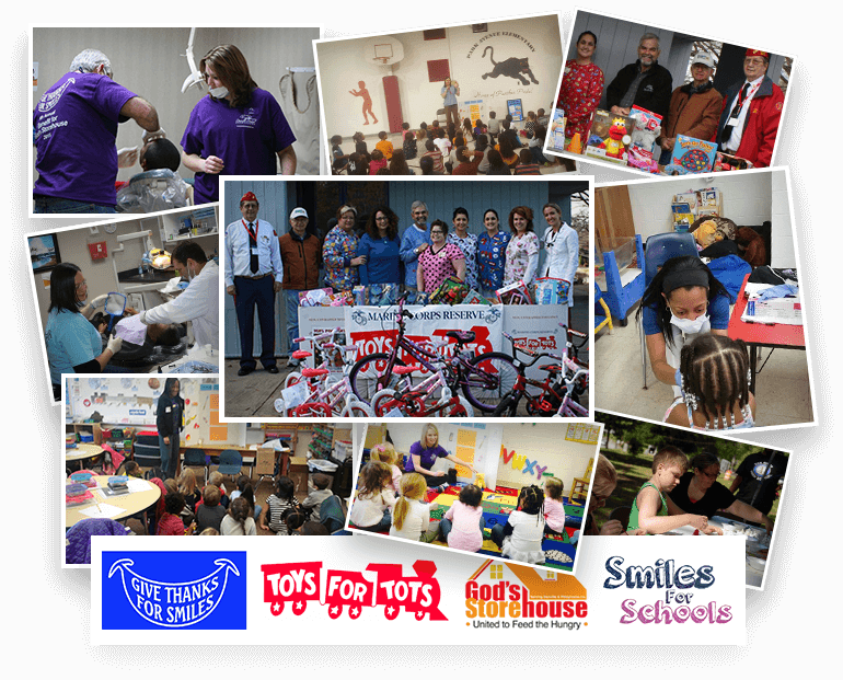 Collage for Toys For Tots community events