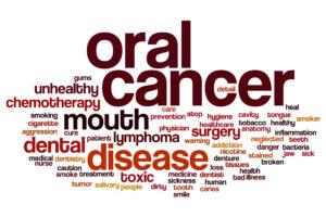 oral cancer word cloud in red